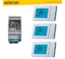 GSM Exeo Set pro zónové ovládání topení na dálku – 3 topné okruhy