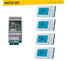 GSM Exeo Set pro zónové ovládání topení na dálku – 4 topné okruhy