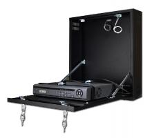 CP-PR-100 Uzamykatelná skříňka na zeď pro malé DVR / NVR rekordéry (černá)