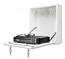 CP-PR-101 Uzamykatelná skříňka na zeď pro malé DVR / NVR rekordéry (bílá)