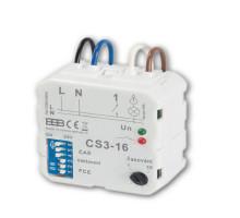 CS3-16 Multifunkční časový spínač s nastavení OSMI FUNKCÍ SEPNUTÍ