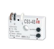 CS3-4B Časový spínač pro ventilátory s zpožděním a v zapojení BEZ NUL. vod.