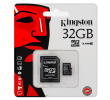 Kingston MicroSDHC 32GB Class 10 + SD adaptér
