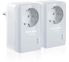 Powerline ethernet TP-Link TL-PA4010P KIT nano adaptér (500 Mbps), průch. zásuvka