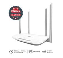 WiFi router TP-Link Archer C50 AC1200, AP/router, 4x LAN, 1x WAN / 300Mbps 2,4/ 867Mbps 5GHz