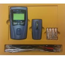 Tester datových a telefonních kabelů LCD, měření délky