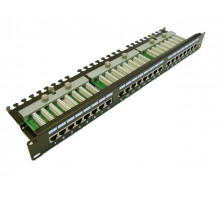 LEXI-Net Patch panel 24 portů C5e s poličkou osazený FTP