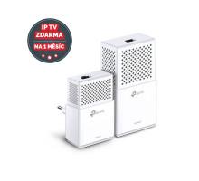 Powerline ethernet TP-Link TL-WPA7510 KIT starter ac WiFi kit, adaptér (1000 Mbps)