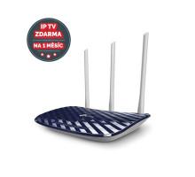 WiFi router TP-Link Archer C20 AC750 dual AP/router, 4x LAN, 1x WAN/ 300Mbps 2,4/ 433Mbps 5GHz