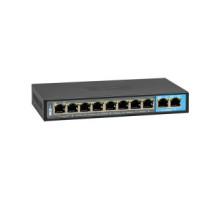 BCS-B-SP08G02G Switch -10portový switch, 10/100/1000Mb/s, 8xPOE, max. výkon 96W,…