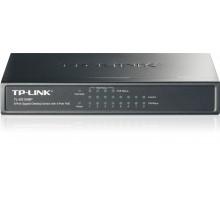 Switch TP-Link TL-SG1008P 8x GLAN, 4xPOE, 56W, kov