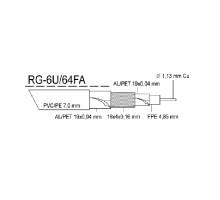 Kabel KOAX RG-6U/64FA, PVC bílá 7,0mm, cívka 305m