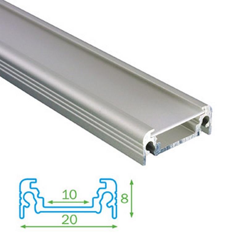 Přisazený profil FKU11 pro LED, s plexi, 1m - 4731060-S