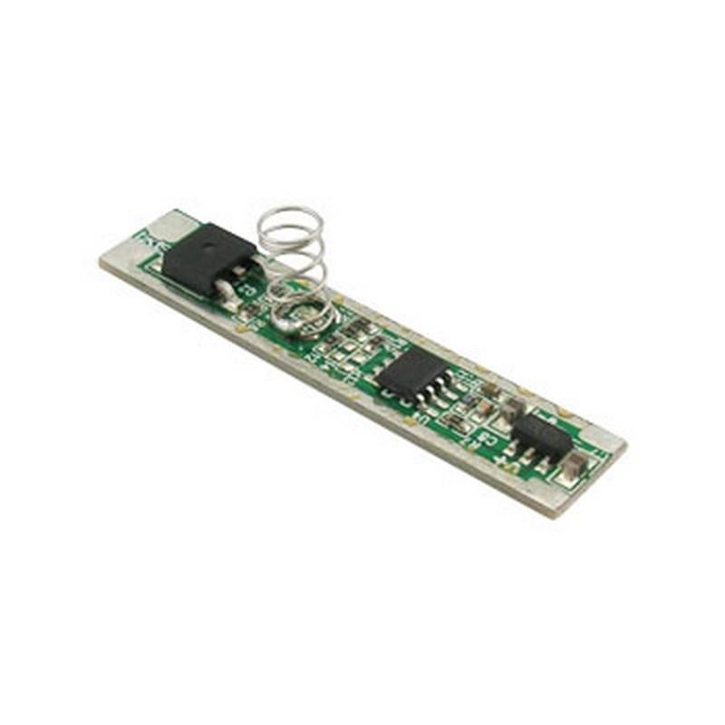 Stmívač pro LED pásky 12/24V, 5A, dotykový do profilu, plynulá regulace