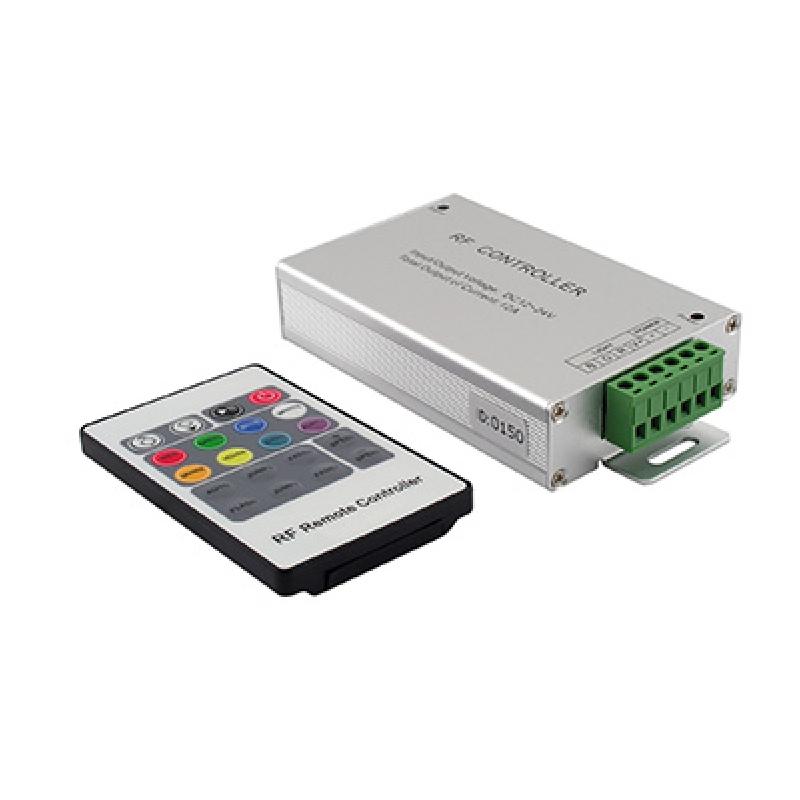 Ovladač pro RGB LED pásky 12/24V, 3x4A, RF DO, ind. kód