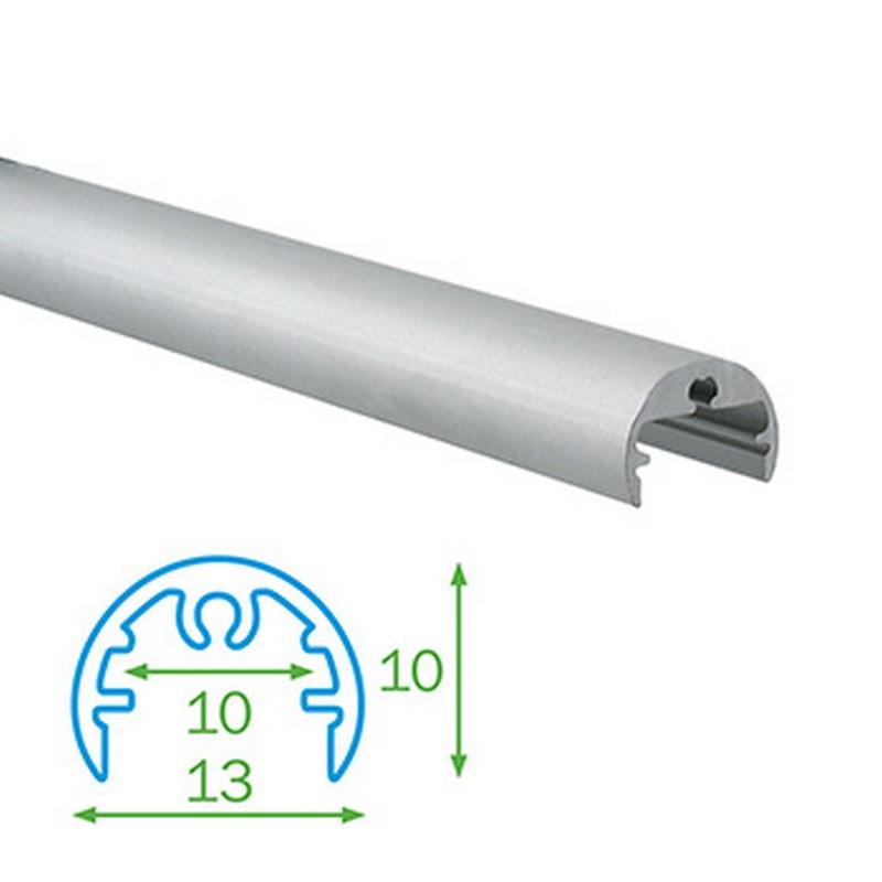 Kulatý profil FKU25 pro LED, bez plexi, 1m