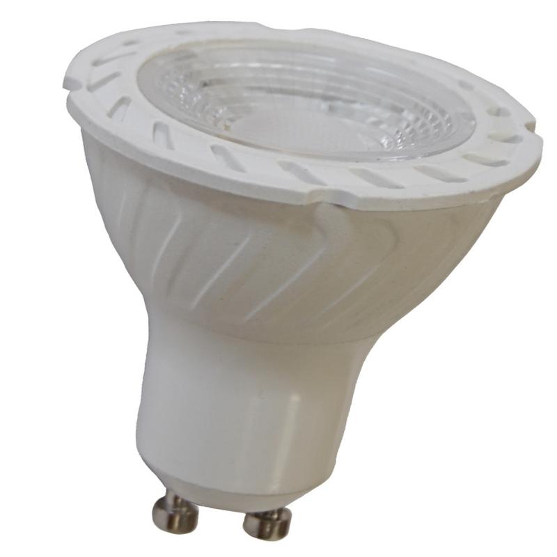 LED žárovka GU-10 - 5W, tepla bílá 2700K, 450Lm LexiLED