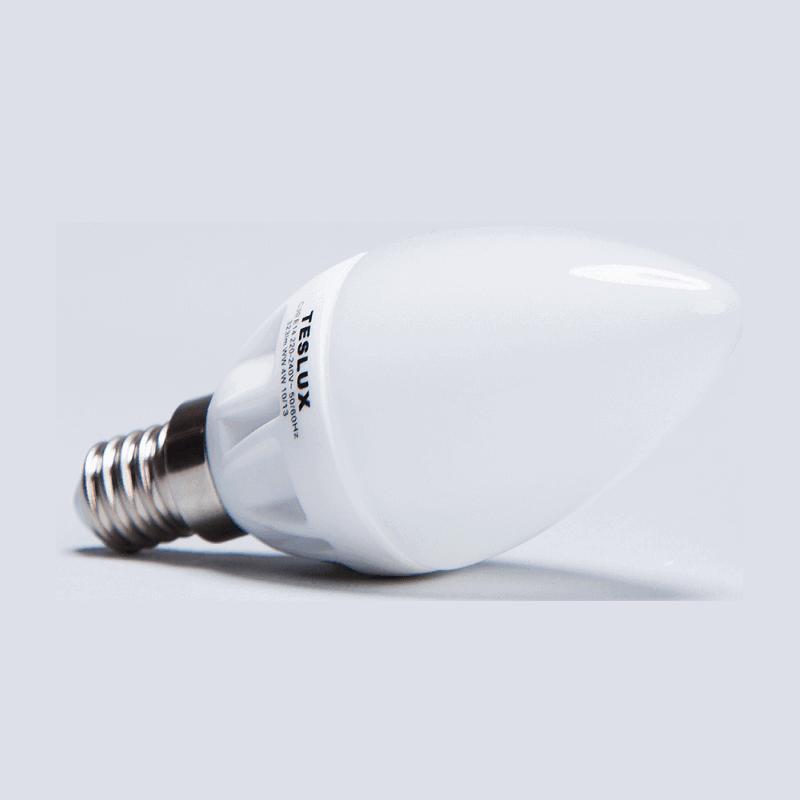 LED žárovka svíčka E14 C30 teplá bílá 4W 323Lm - TESLUX