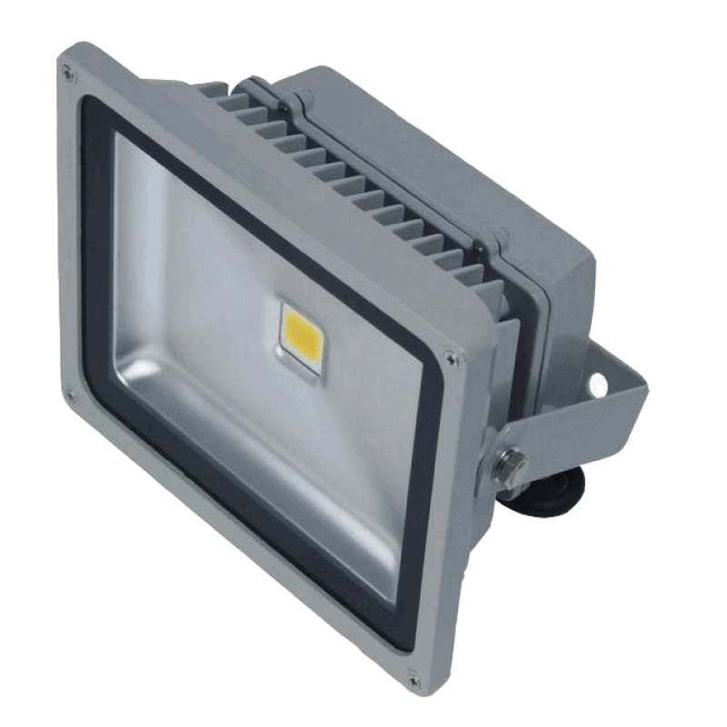 Venkovní LED reflektor 30W šedý - FK technics
