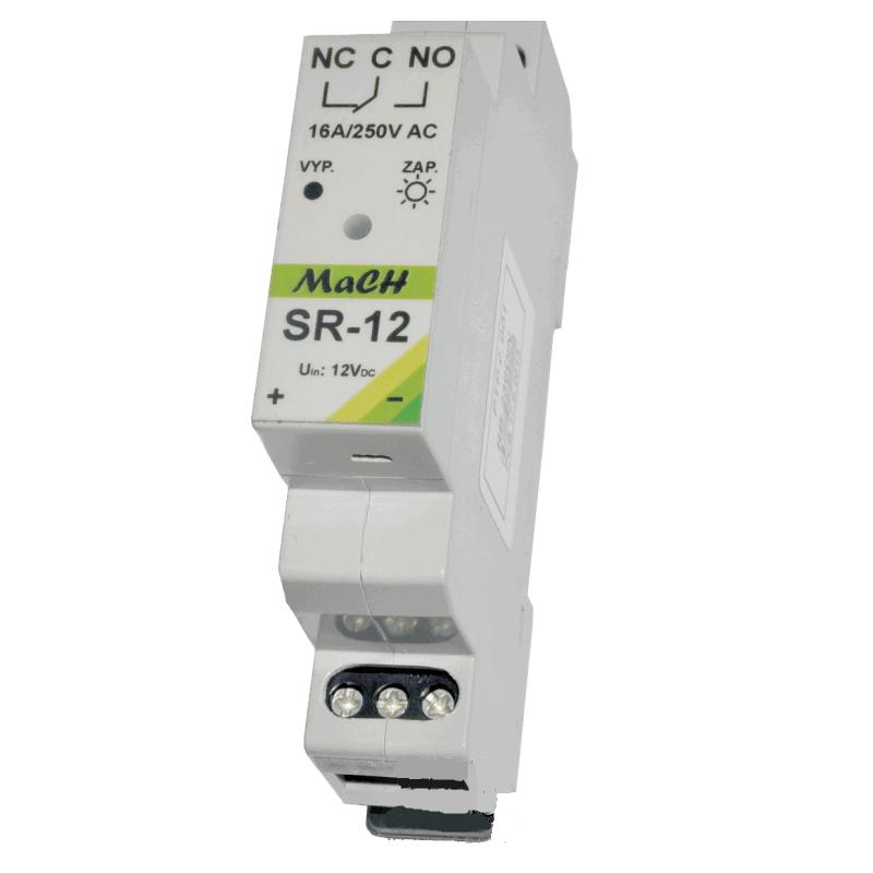 SR-12 Spínací elektronické relé ovládané 12V DC
