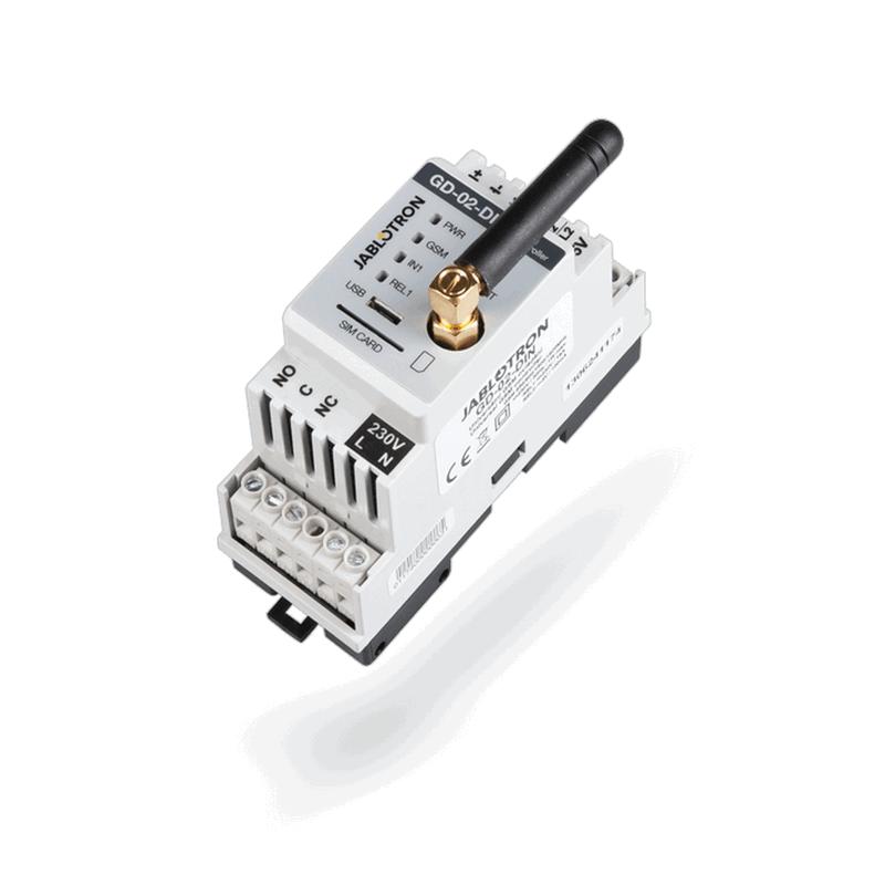 Jablotron GD-02-DIN Univerzální GSM komunikátor a ovladač GD-02-DIN