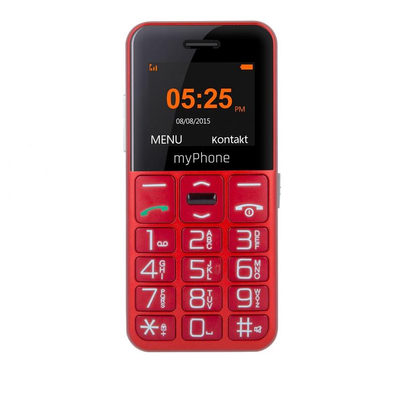 Mobilní telefon MYPHONE HALO EASY červený