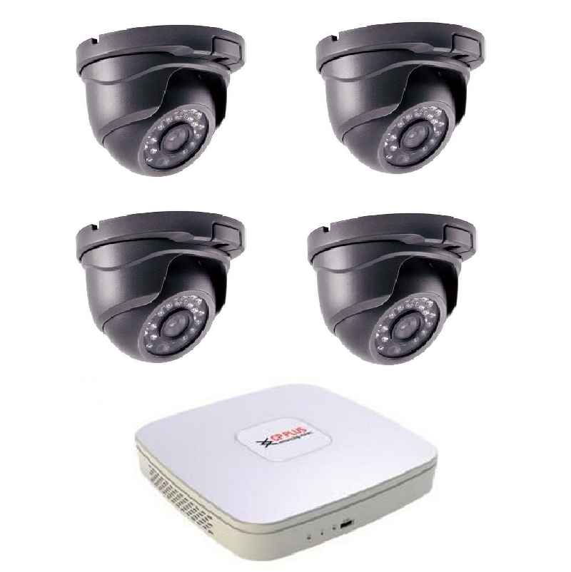 Kamerový set HDCVI-1 (HDCVI venkovní dome kamery 1Mpix, objektiv 3,6mm)