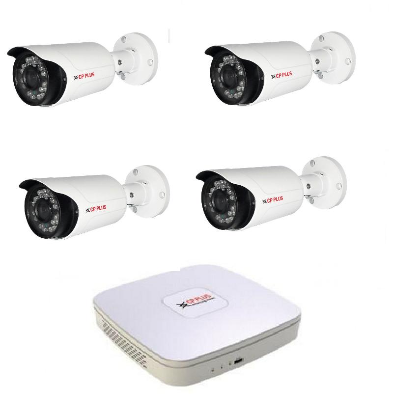 Kamerový set HDCVI-4 (HDCVI venkovní kamery 1,3Mpix, objektiv 3,6mm)