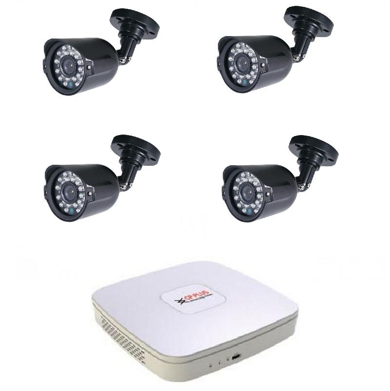 Kamerový set HDCVI-2 (HDCVI venkovní kamery 1Mpix, objektiv 3,6mm)