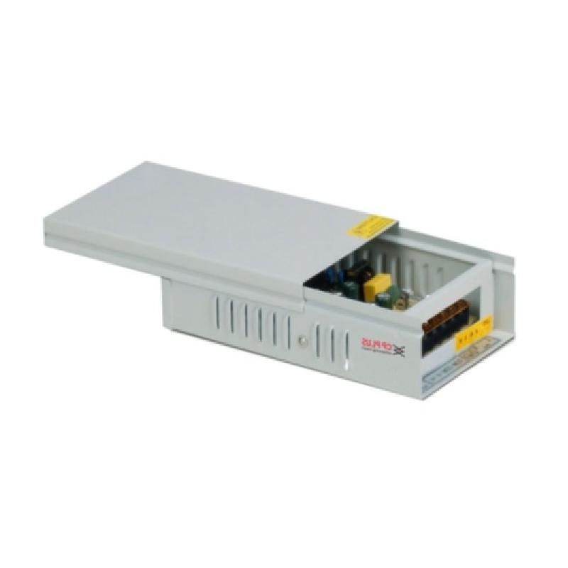 Kamerové systémy CP PLUS Napájecí zdroj 12V/10A s volitelným výstupem napětí 11,4-13,2V, výkon 120W