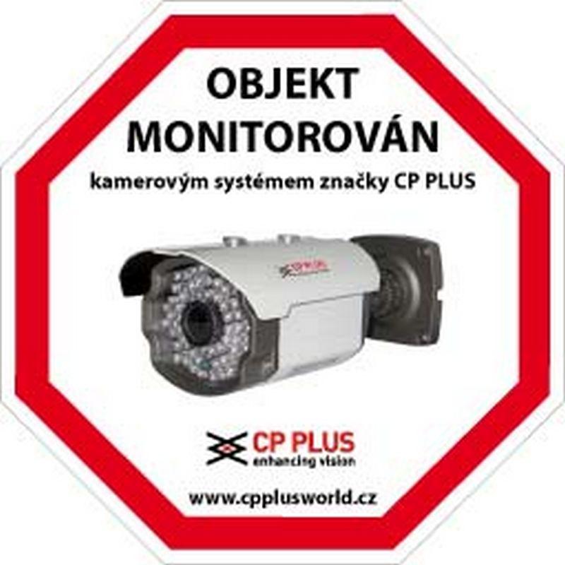 Samolepka CCTV CP-PR-34 - kamerové systémy CP PLUS